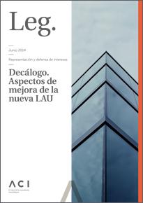 Decálogo sobre aspectos de mejora de la nueva LAU